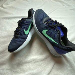 Nike lunarglide 8 Blk/Blu 7.5